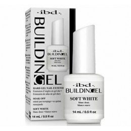 IBD Building Gel na četkicu - soft white 14 ml