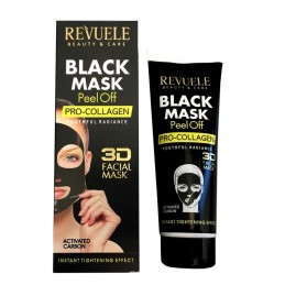 Revuele Black Mask with activated Carbon Pell off  Pro-collagen