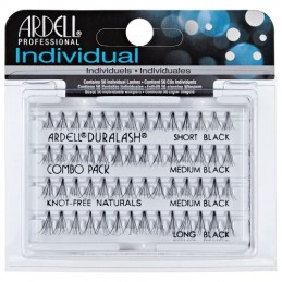 ARDELL KNOT- FREE NATURAL INDIVIDUAL COMBO BLACK- 65063