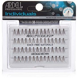 ARDELL  KNOT-FREE NATURAL INDIVIDUAL LASHES MEDIUM BROWN - 65053