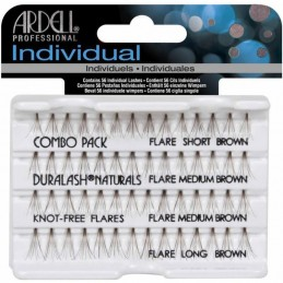 ARDELL KNOT-FREE NATURAL INDIVIDUAL COMBO BROWN - 65064